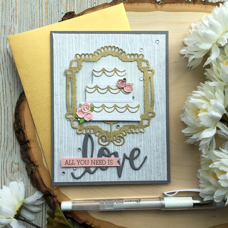 Wedding Card Bride and Groom Handmade Congratulations Blank Inside