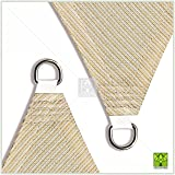 ColourTree 16' x 16' Beige Sun Shade Sail Canopy