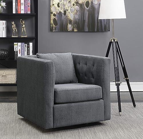 Pulaski Porter Tufted Inner Arm Swivel accent chair