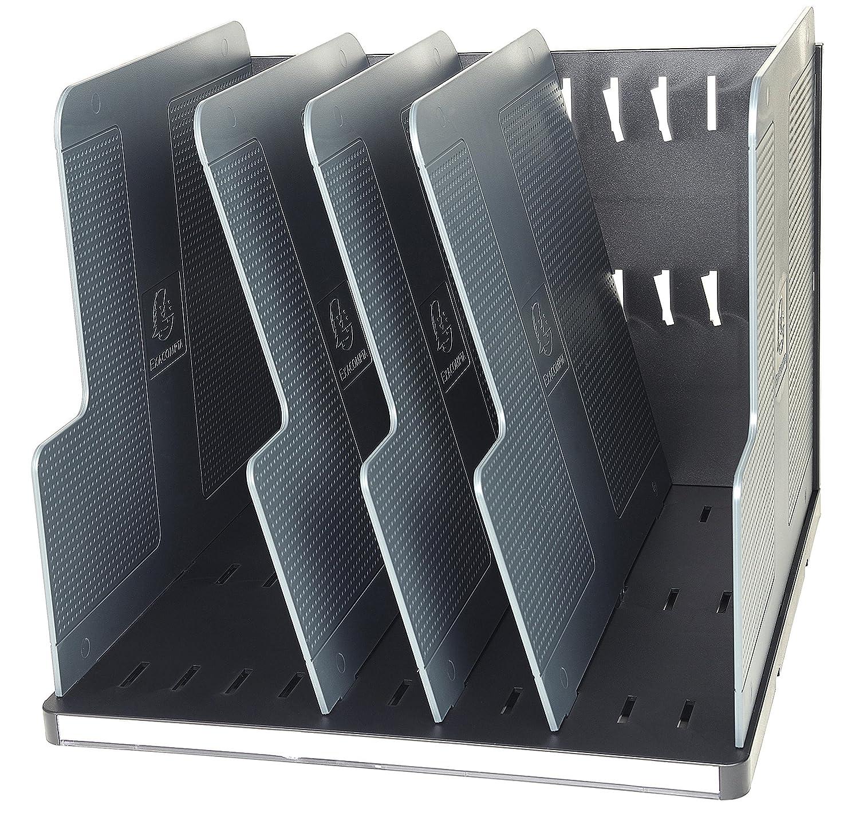Exacompta Modulodoc Ecoblack - Clasificador vertical con 5 separadores, color negro y gris oscuro 390714D