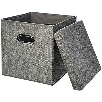 Amazon.com: Cubos de almacenamiento de arpillera plegables ...
