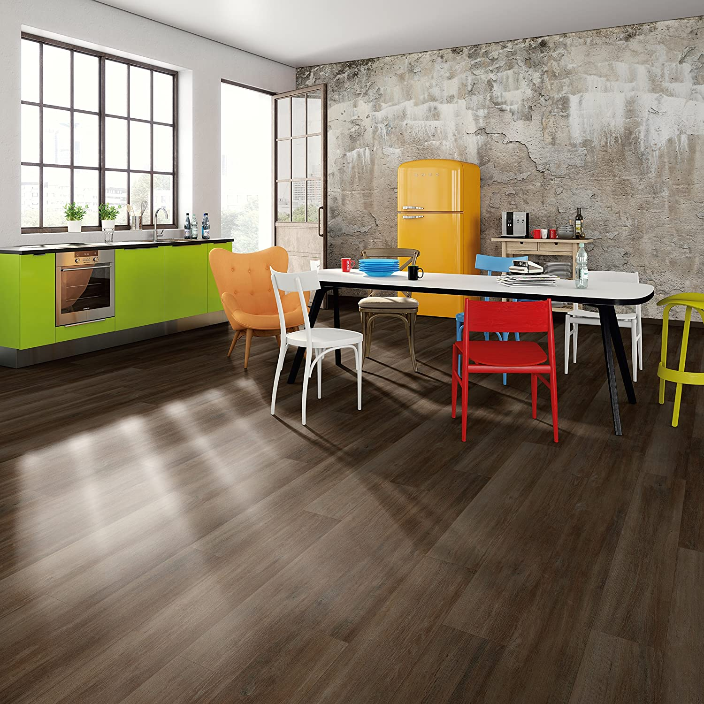 Eiche dezent weiss EHD003 EGGER Home Designboden wei/ß strapazierf/ähig Klick Design Laminat robust wasserfest und PVC frei 5mm kompakt, 1,989 m/² pflegeleicht