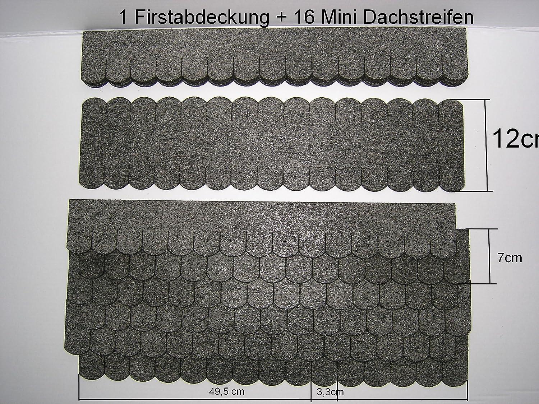 Martinshof Rothenburg Diakoniewerk Mini -Dachschindeln Biberschwanz (33 mm) - Set - Grau 23.407 Werkstätten Martinshof