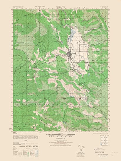 Amazon.com: Topographic Map - Wilits California Sheet - Army 1943 ...