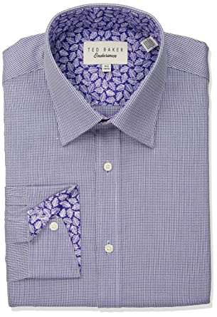 64e0d2433b5933 Amazon.com  Ted Baker Men s Troon Slim Fit Dress Shirt  Clothing