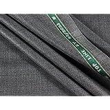 Raymond Men's Unstitched Checkered Pant Piece Grey_1.25m