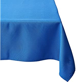 Beautiful LinenTablecloth 54 Inch Square Polyester Tablecloth Royal Blue