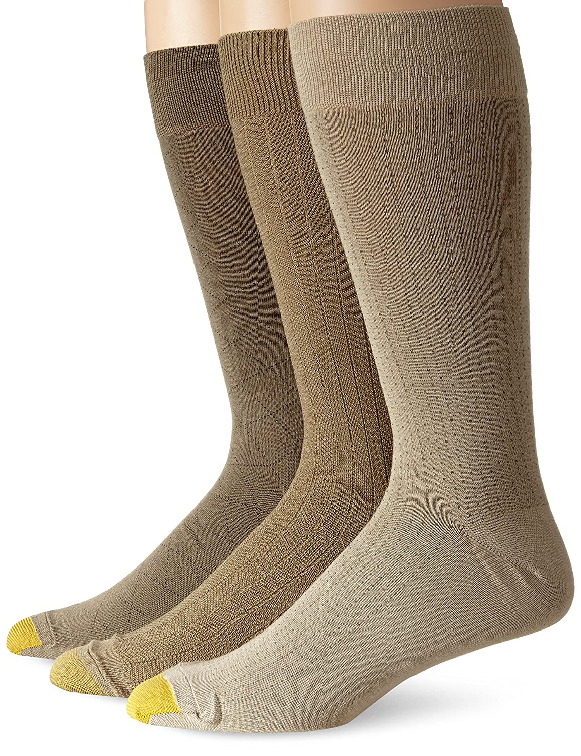 Gold Toe Men's Rayon Fashion 3 Pack Socks Dust/Winter Khaki/Taupe 13-15 Gold Toe Moretz - Men's 2055E