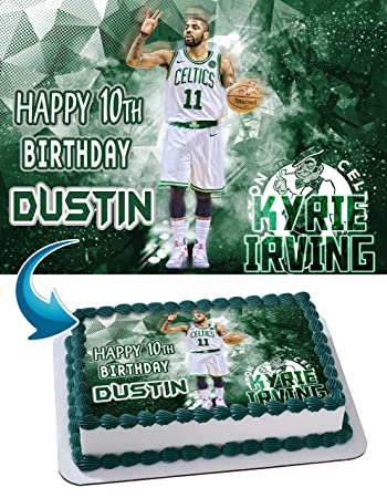 kyrie irving birthday Kyrie Irving Boston Celtics Birthday Cake Personalized Cake  kyrie irving birthday