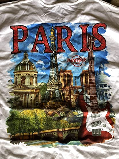 ecb010df42801c Amazon.com   Hard Rock Cafe New HRC Paris (France) City Tee White T ...