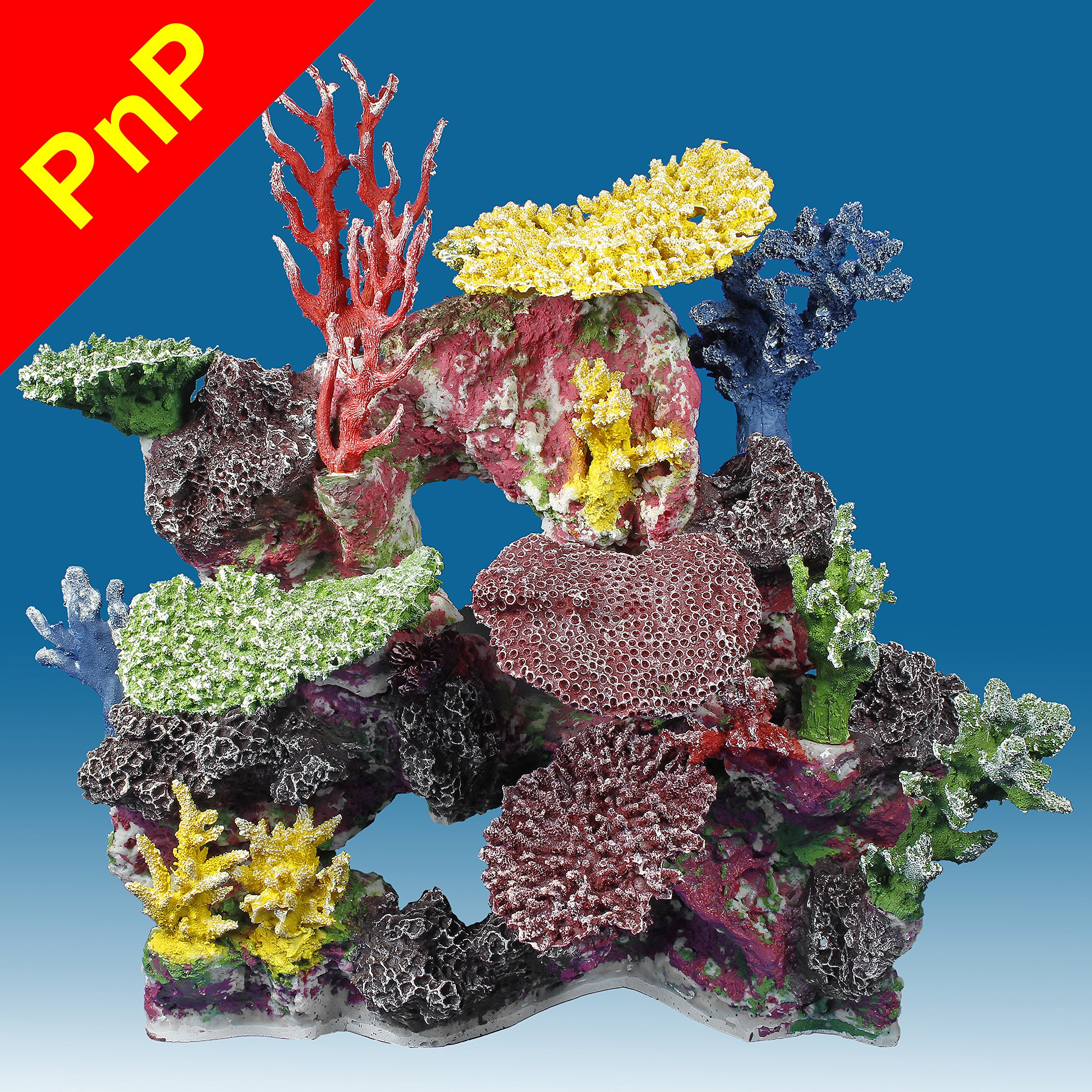 Instant Reef DM043PNP Large Artificial Coral Inserts Decor, Fake Coral Reef Decorations for Colorful Freshwater Fish Aquariums, Marine and Saltwater Fish Tanks by Instant Reef