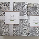 Pottery Barn JACQUELYN Duvet Cover Full/Queen & Two Standard Shams ~*Gray*~