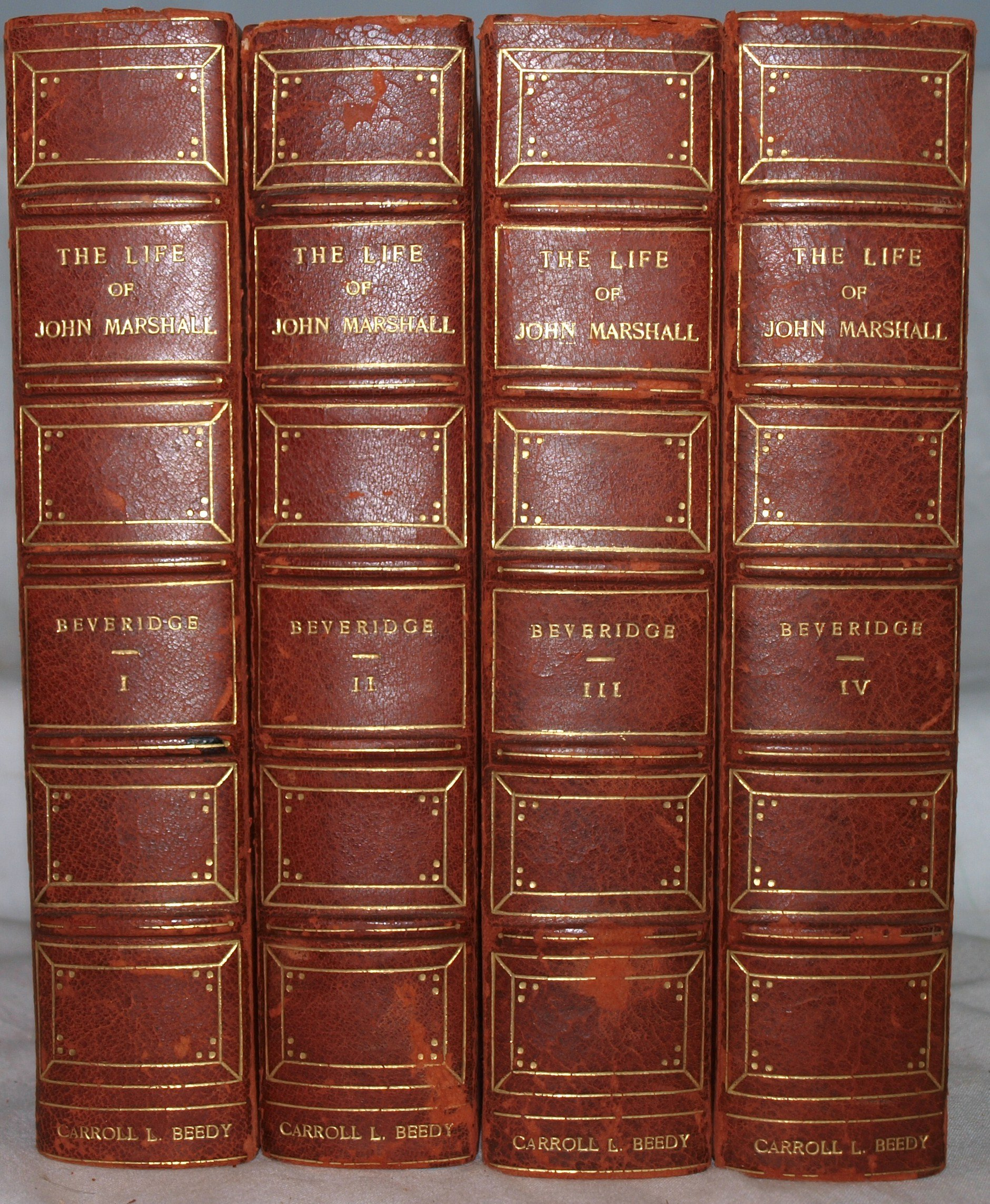 4 Vols in 2 Hardcovers The Life of John Marshall