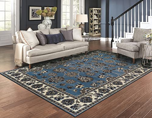 Large Traditional Rugs for Living Room 8×10 Blue Area Rugs 8×11 Prime Rugs