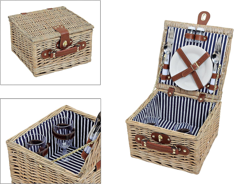 #Picknickkorb für 2 Personen inkl. Inhalt#