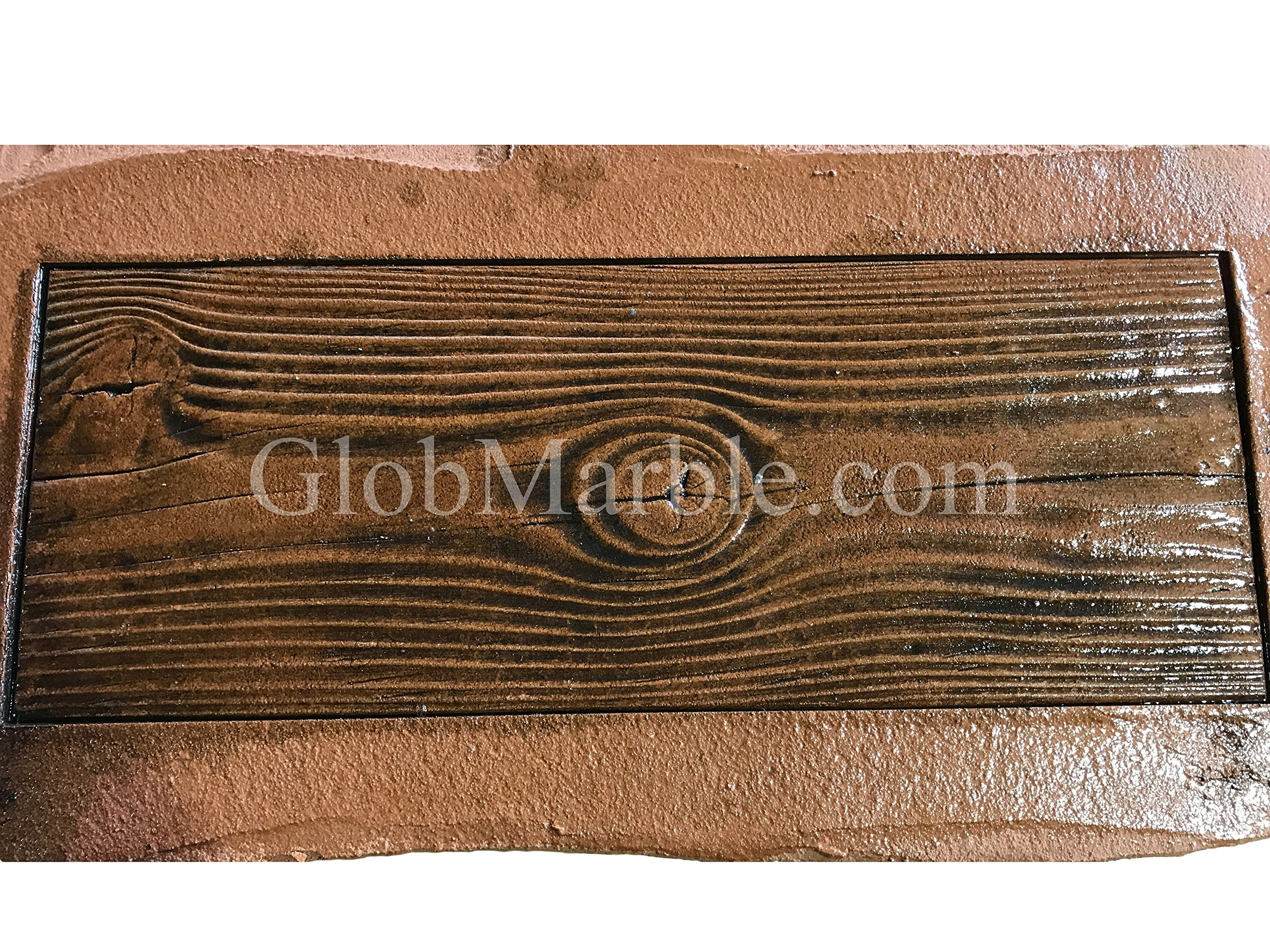 GlobMarble Wood Plank Concrete Stamp Set. Wood Texture Stamp Mat SM 5000 S. 5 Pieces Woodgrain by GlobMarble