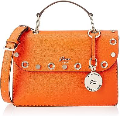 Guess Bags Hobo, Sacs bandoulière femme, Orange, 10x23x27.5