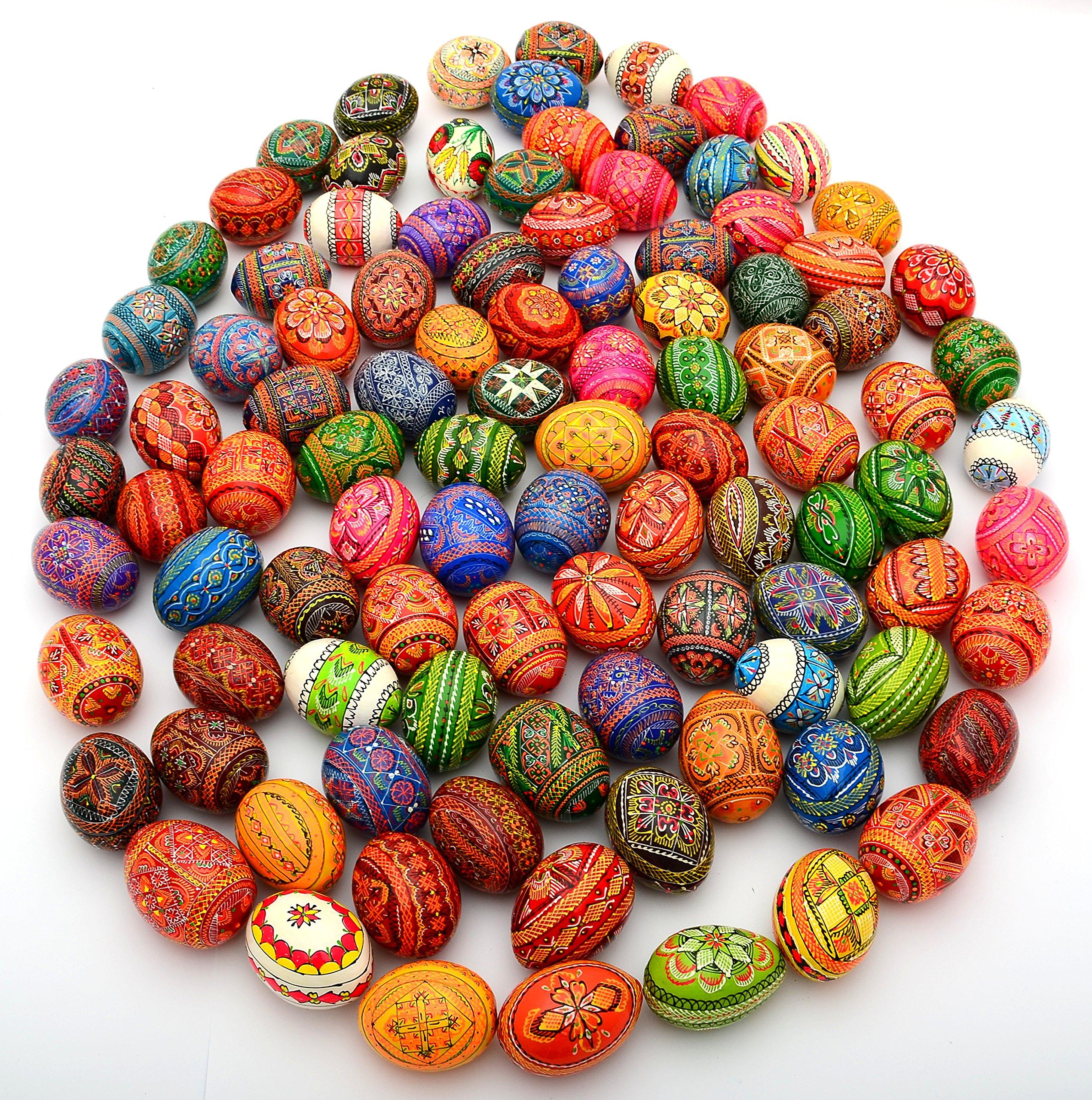 Easter Painted Eggs Wooden Ukrainian Pysanky Pysanka, Set of 500 by Unknown