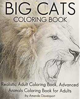 Amazon adult coloring book animals advanced realistic animal big cats coloring book realistic adult coloring book advanced animals coloring book for adults publicscrutiny Images