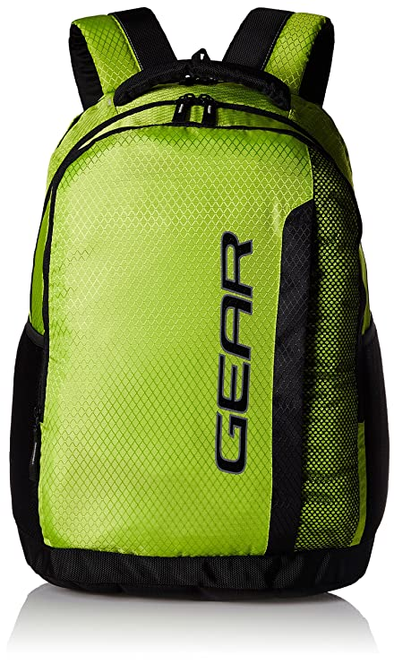 Gear 37 Ltrs Lime Green and Grey Casual Backpack (METLPCMQ30304 ... 76636b959