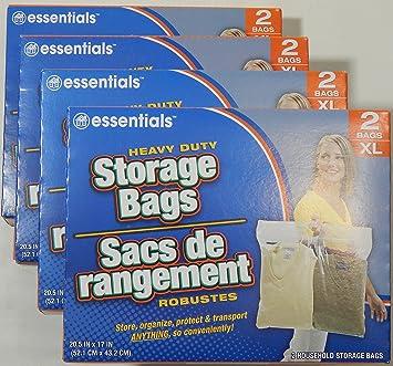 essentials(TM) Heavy Duty Clear Plastic Storage Bags w/ Zip-Lock u0026  sc 1 st  Amazon.com & Amazon.com: essentials(TM) Heavy Duty Clear Plastic Storage Bags w ...