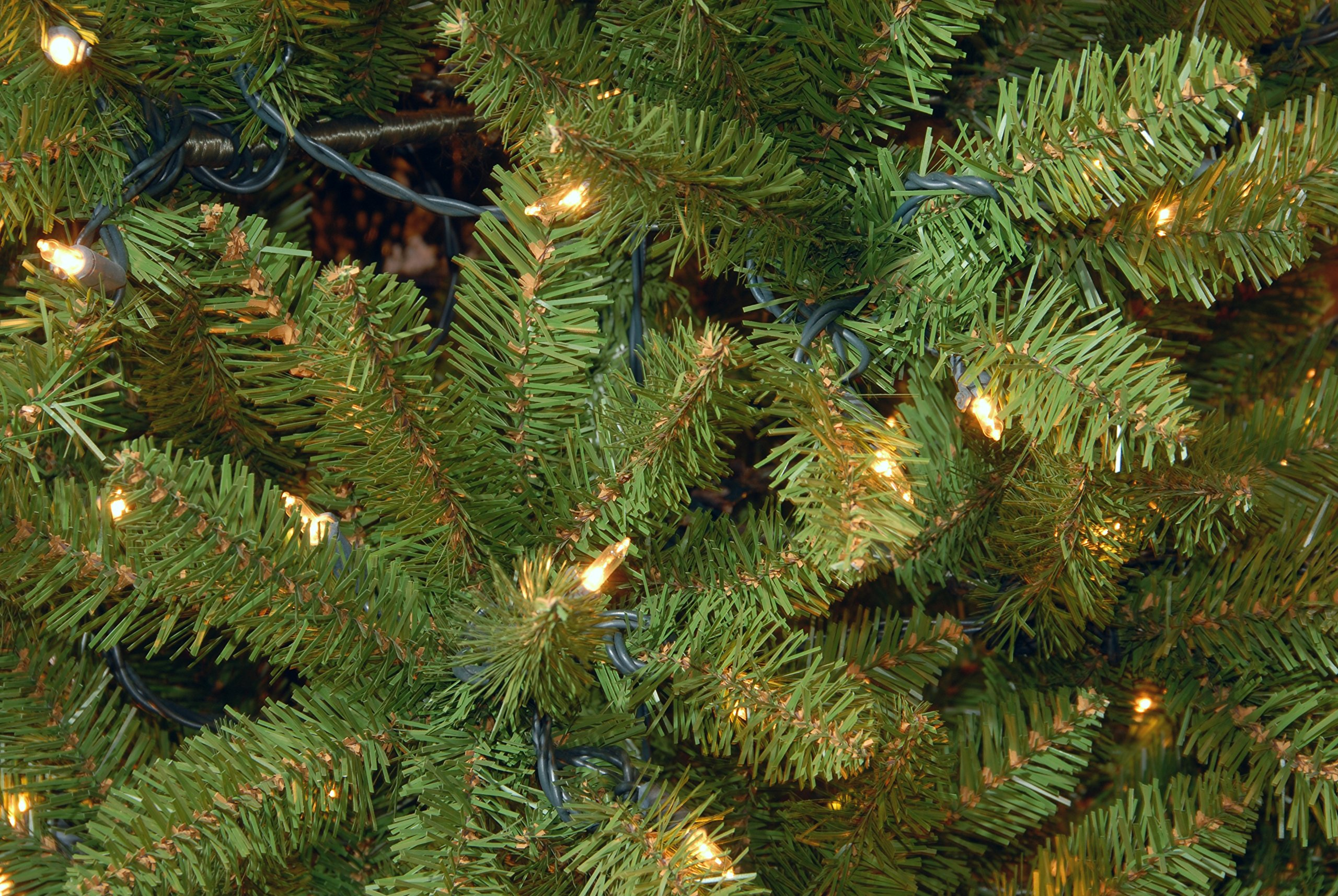 National Tree 6.5 Foot Kingswood Fir Pencil Tree with 250 Clear Lights, Hinged (KW7-300-65) by National Tree Company (Image #1)