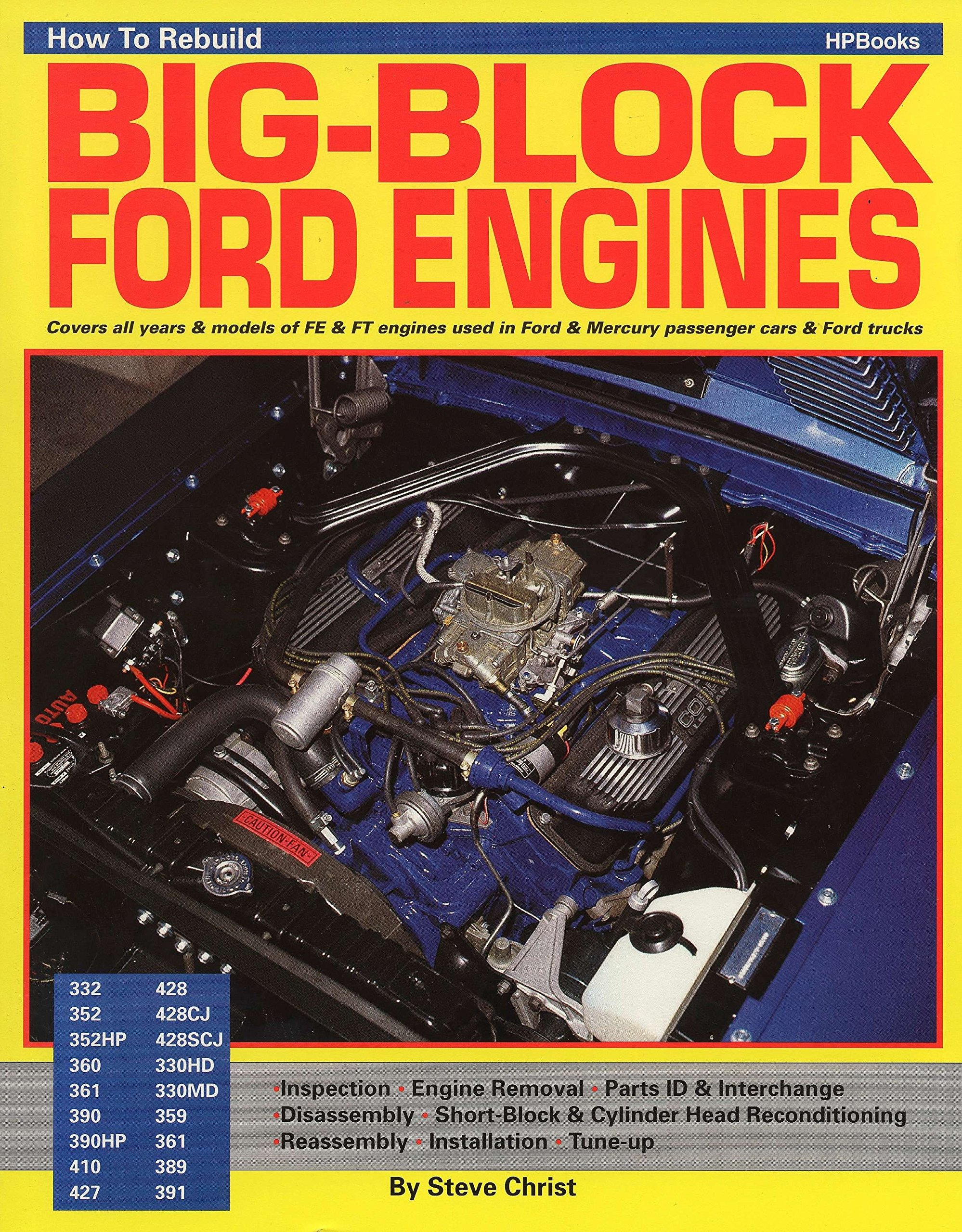 How To Rebuild BIG-BLOCK FORD ENGINES: Steve Christ: 9780895860705:  Amazon.com: Books