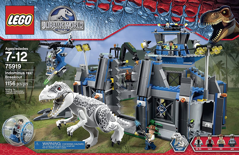amazoncom lego jurassic world indominus rex breakout 75919 building kit toys games - Jurassic Lego