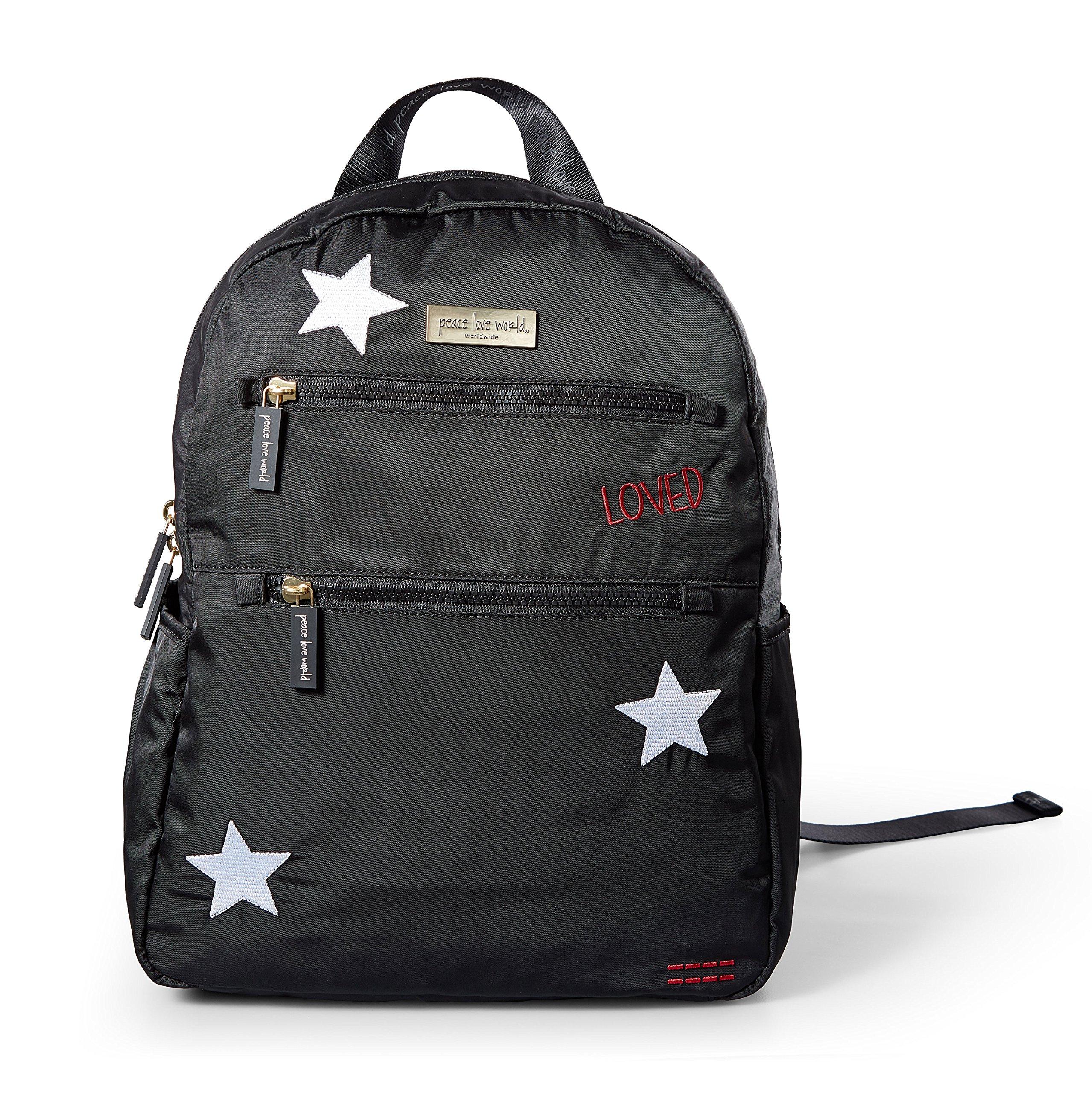 Peace Love World Diaper Bag Backpack 03 PLW202 Black