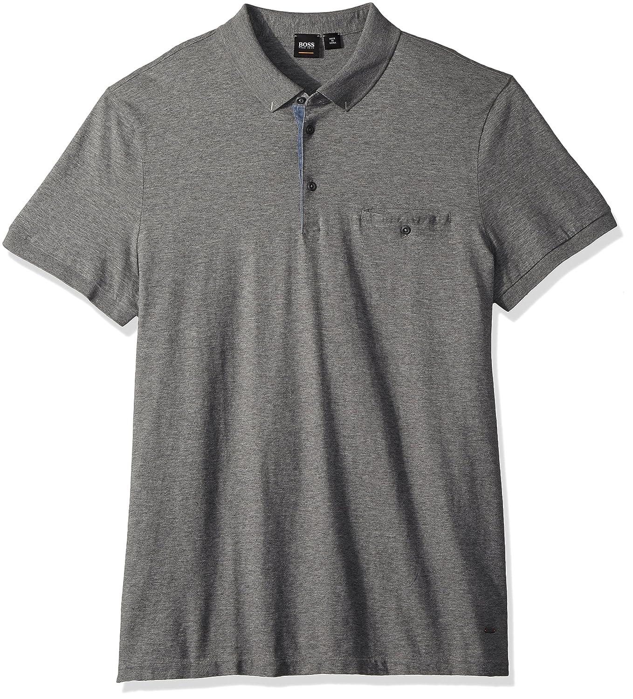 95a7803f2 Amazon.com: Hugo Boss Men's Principle 1 Short Sleeve Polo Jersey Denim Mix:  Clothing