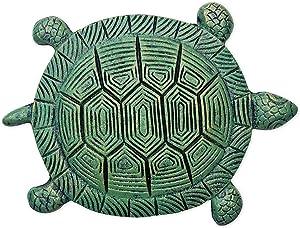 Sunset Vista Designs 93576 Garden Path Cast Iron Stepping Stone, Turtle - Verdigris