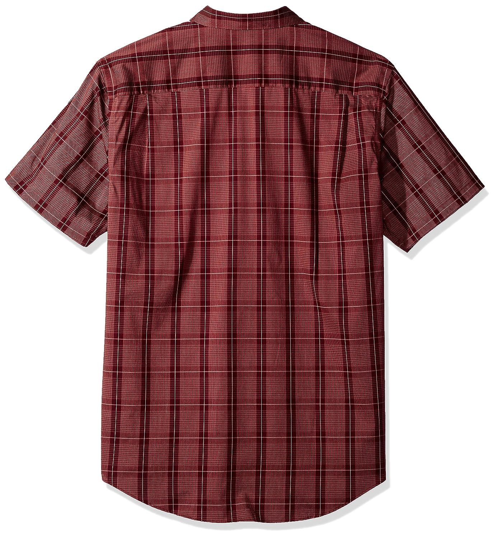 Van Heusen Mens Flex Short Sleeve Button Down Windowpane Shirt