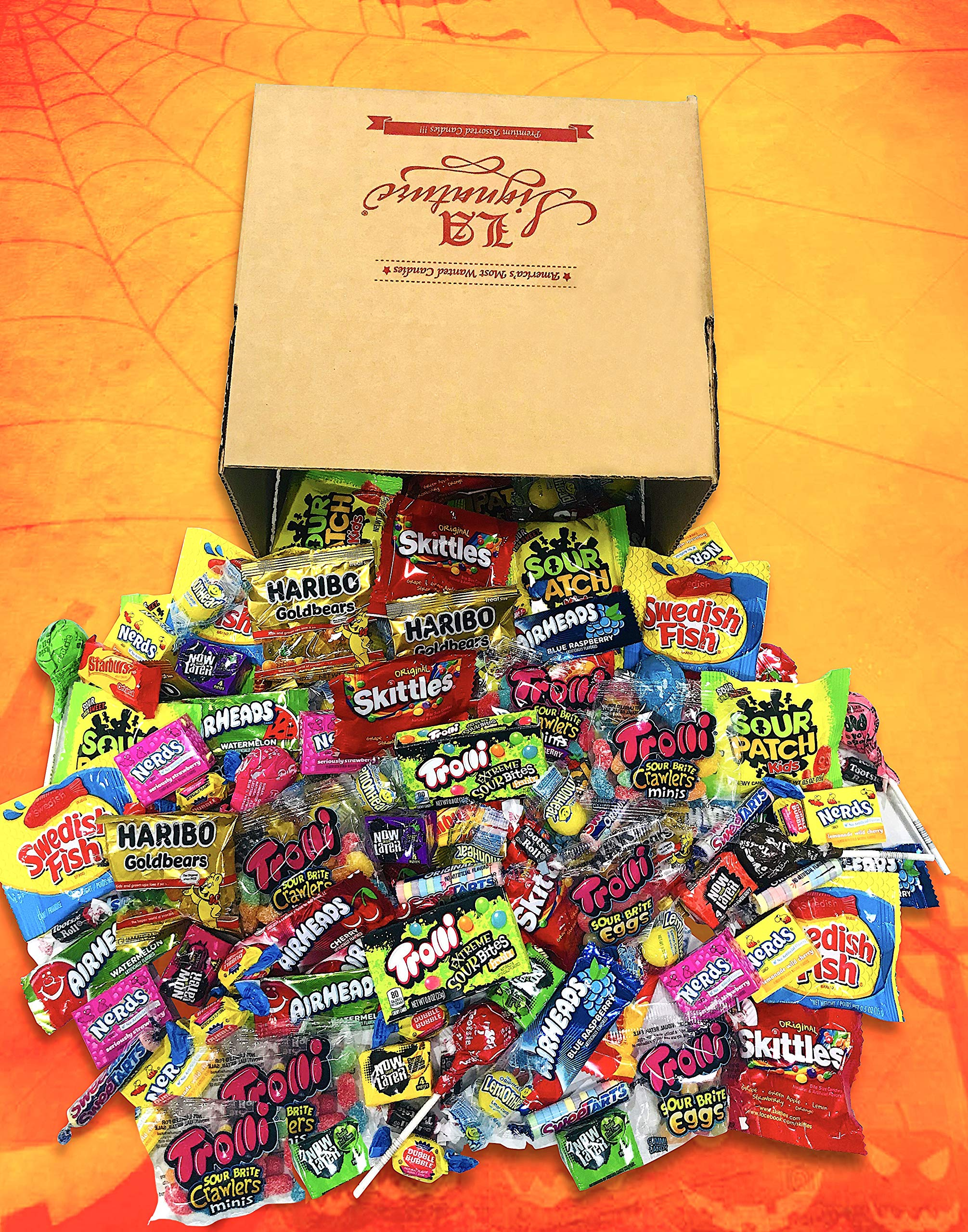 FUN MIX ASSORTED Variety BULK Individually Wrapped Candies, 56 OZ (3.5 LBS) - Skittles, Haribo Gold Bears, Sour Patch Kids, Swedish Fish, Starburst, Lemondheads, Trolli, Now & Later & More by LA Signature