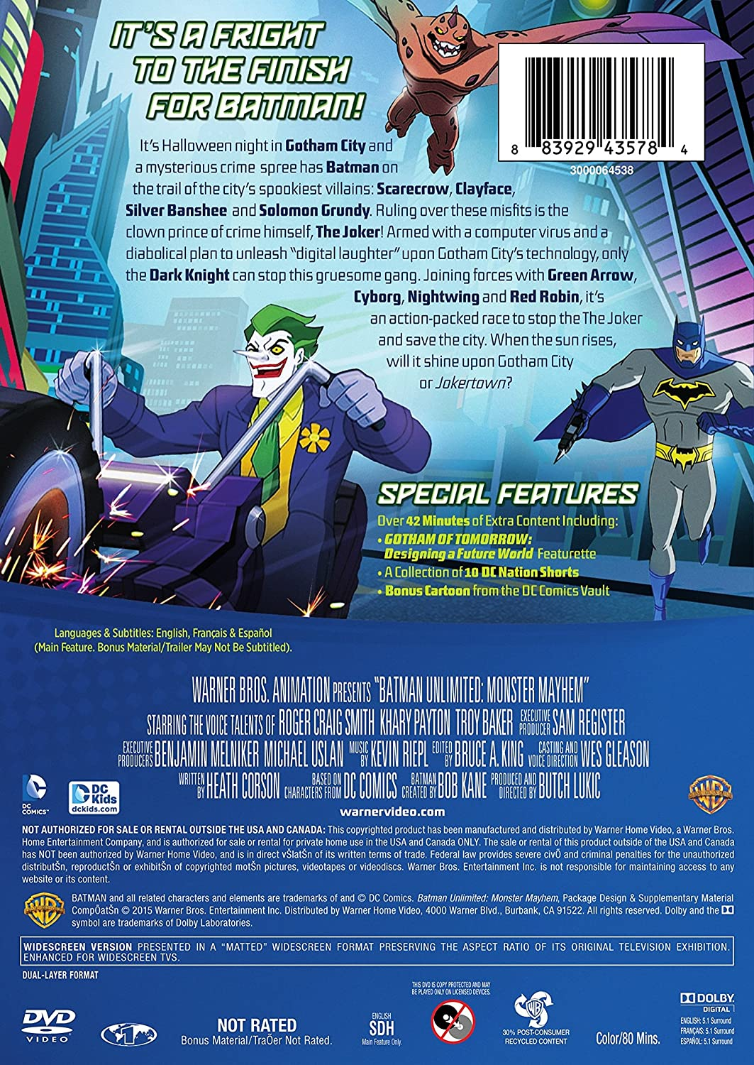 Amazon.com: Batman Unlimited: Monster Mayhem (DVD): Heath ...