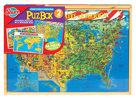 Us Map Puzzles Online.Buy Us Map World Map 2 Puzzles Set Shure Online At Low Prices