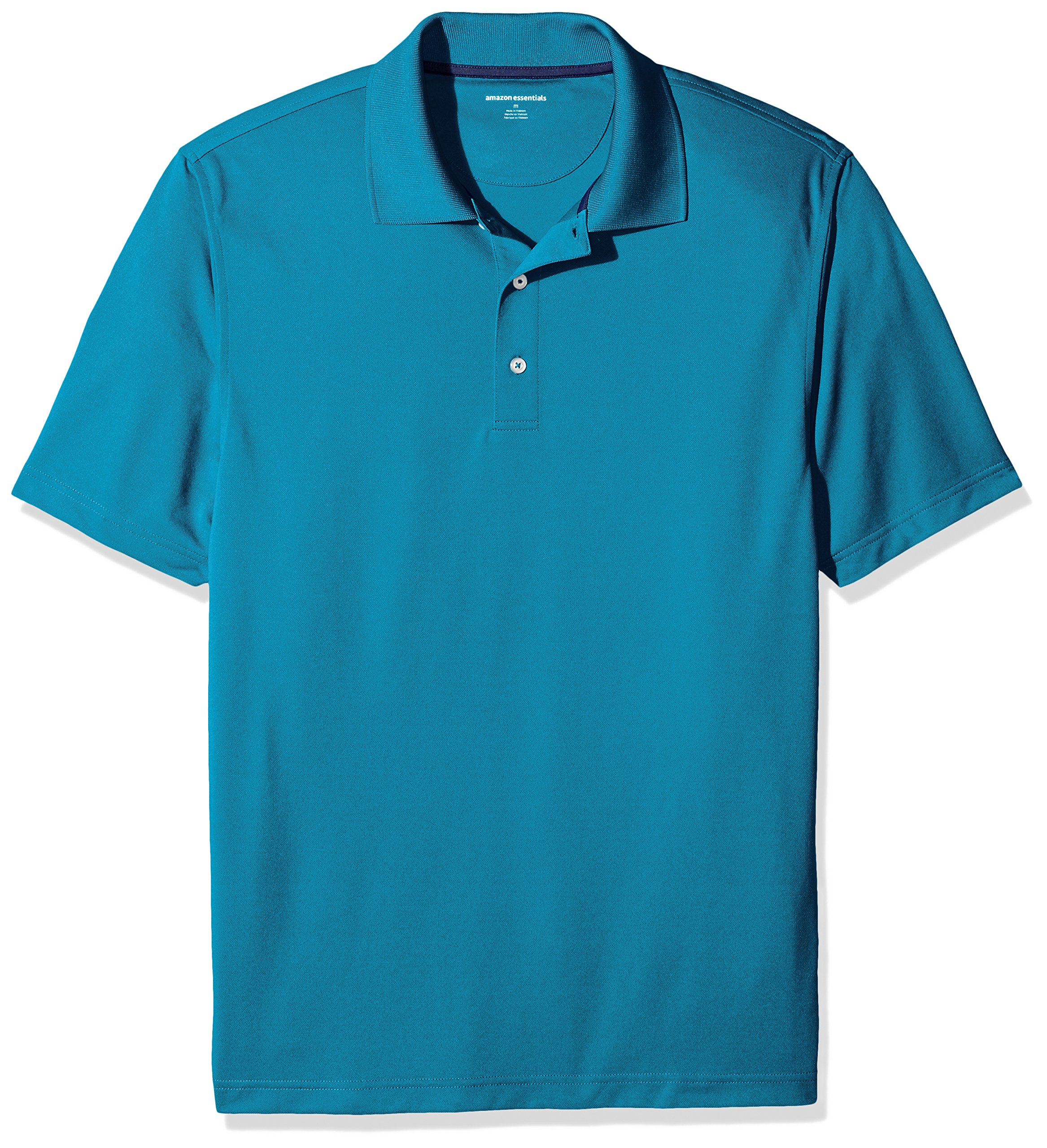 Amazon Essentials Men's Regular-Fit Quick-Dry Golf Polo Shirt, Deep Teal, X-Small