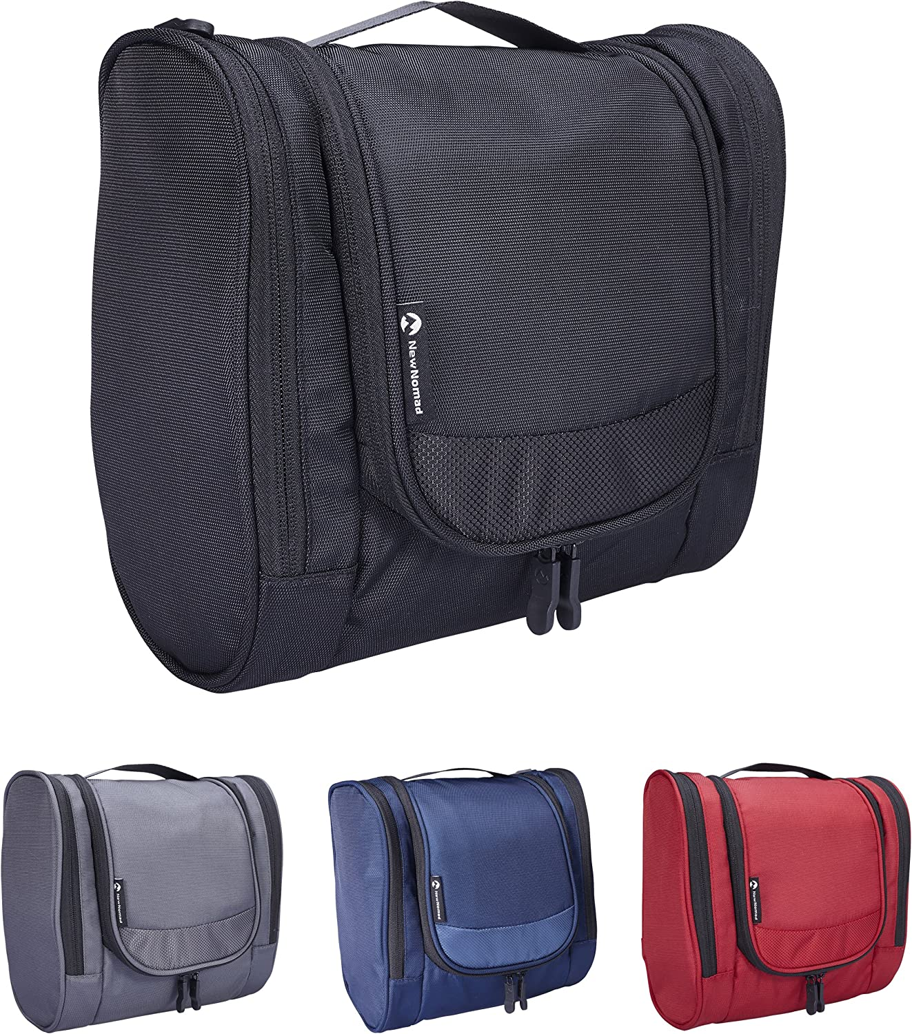 NewNomad Hanging Toiletry Bag for Men and Women, Water Resistant Toiletry Kit
