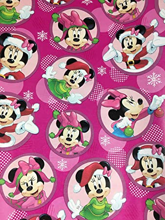Amazon.com: Disney\'s Minnie Mouse Christmas Gift Wrapping Paper --20 ...