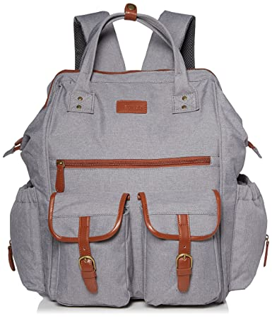 156f7b83051 Aautoo Wide Open Diaper Bag Backpack 15 Pockets Waterproof Travel School Bag  Extra Capacity Baby Nursing