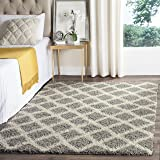 """Safavieh SGD258G-5 Dallas Shag Collection and Ivory Area Rug, 5'1"""" x 7'6"""", Grey"""