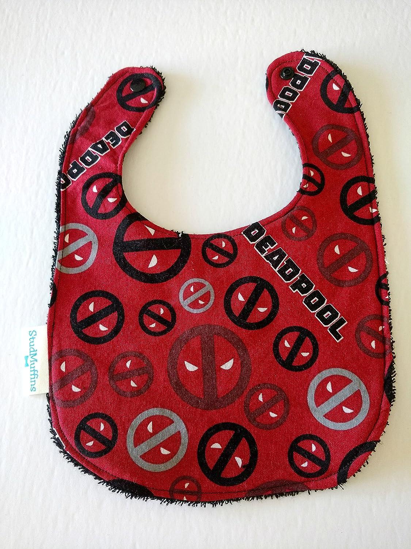 Deadpool Handmade Bib Terry Cloth Drool Bib