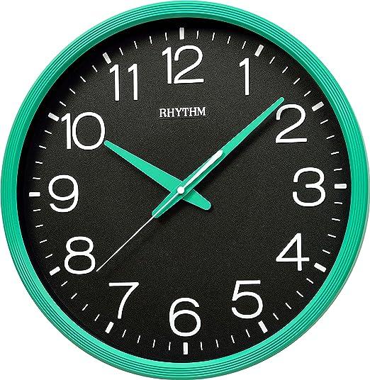 RELOJ PARED , SEGUNDERO MOVIMIENTO CONTINUO SUPER SILENCIOSO, NUMEROS IMPRESOS EN 3D .DIAMETRO 36CM.: Amazon.es: Relojes
