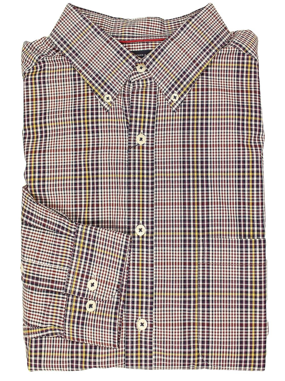 Joe Wenko Men Button Up Geometry Print Long Sleeve Casual Square Collor Shirts