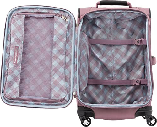 Travelpro Luggage Maxlite 5 2-Piece Set Soft Tote and 21-Inch Spinner Dusty Rose