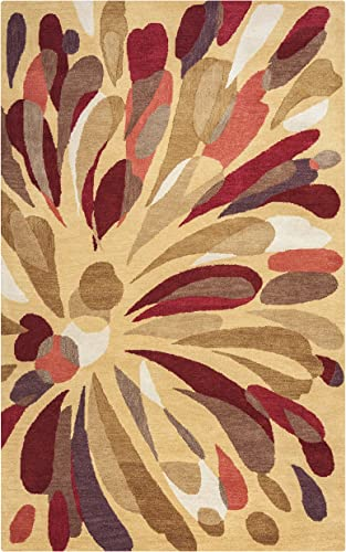 Rizzy Home Bradberry Downs Collection Wool Area Rug, 8 x 10 , Multi Gray Rust Blue Abstract