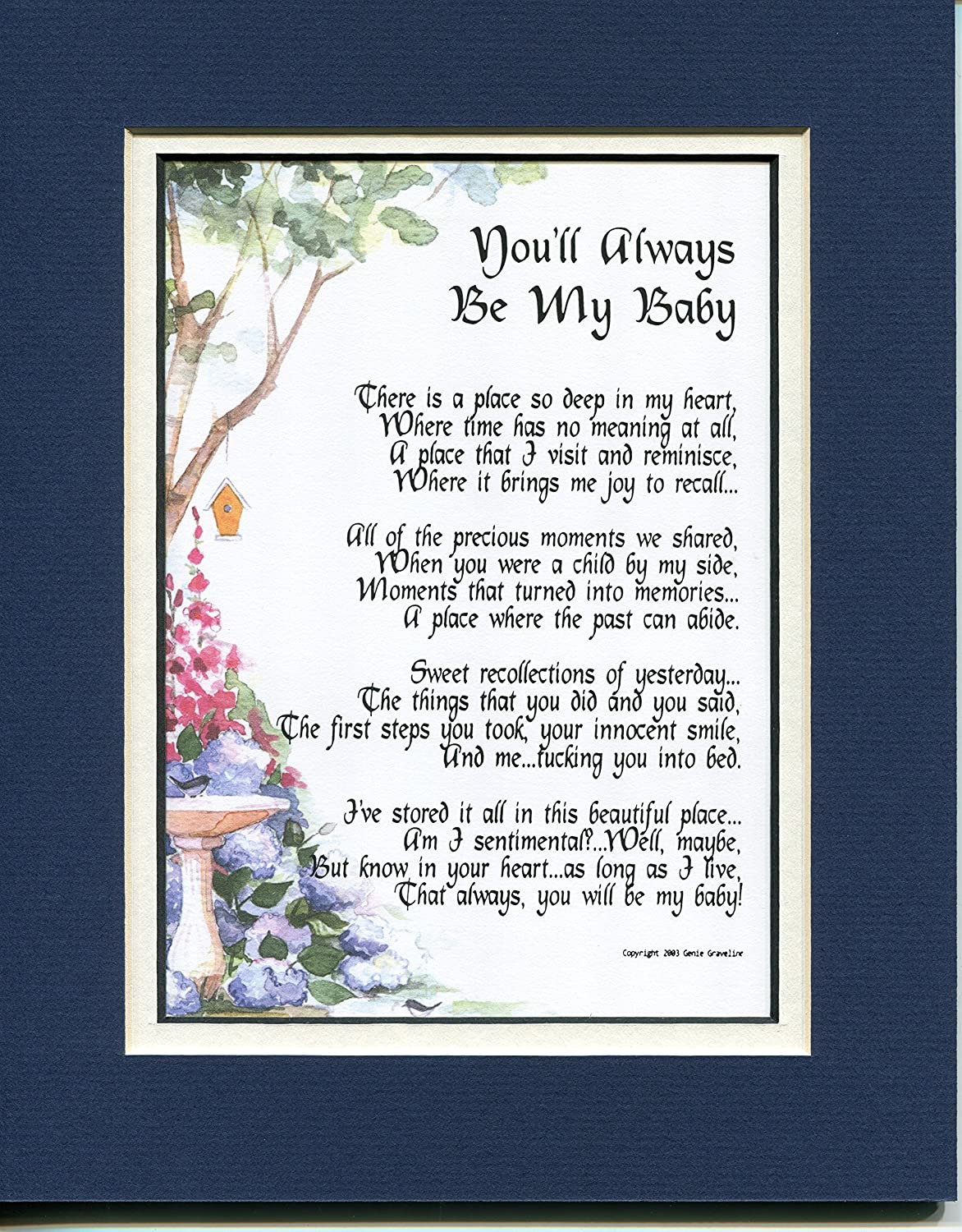 A Gift Present Poem For A Son Or Daughter  The Youngest Child #57