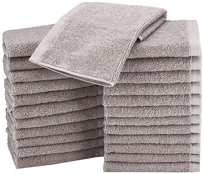 Review AmazonBasics Washcloth - Pack