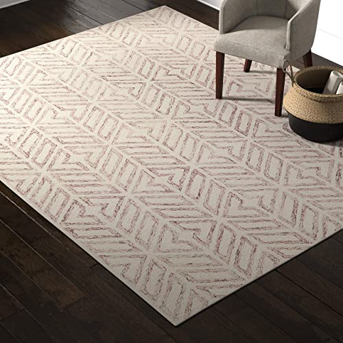 Amazon Brand Rivet Contemporary Handtufted Cotton-and-Wool Area Rug - a good cheap living room rug