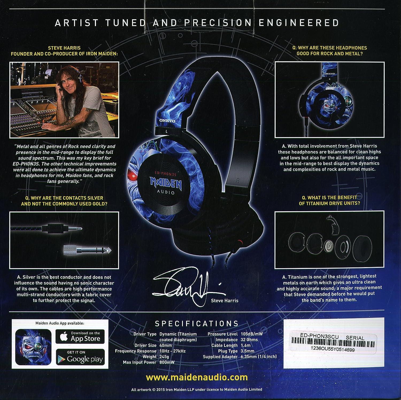 Amazon.com: Onkyo onkyo- Ed - phon3s Iron Maiden Iron Maiden ...