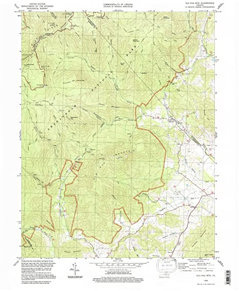 Amazoncom Old Rag Mountain VA Topo Map Scale X - Old rag map